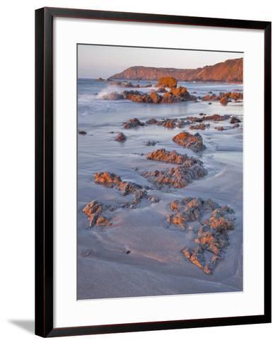 Dawn on Kennack Sands on the Lizard Peninsula in Cornwall, England, United Kingdom, Europe-Julian Elliott-Framed Art Print
