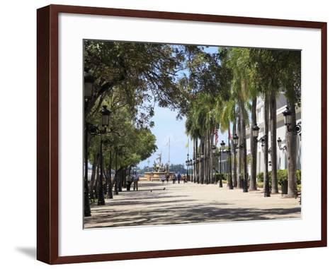 Paseo de La Princesa (Walkway of Princess), Old San Juan, San Juan, Puerto Rico, West Indies, USA-Wendy Connett-Framed Art Print