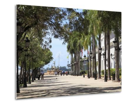 Paseo de La Princesa (Walkway of Princess), Old San Juan, San Juan, Puerto Rico, West Indies, USA-Wendy Connett-Metal Print