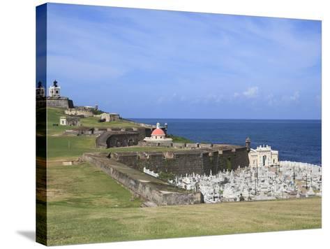 El Morro (Morro Castle), San Felipe, UNESCO World Heritage Site, San Juan, Puerto Rico, USA-Wendy Connett-Stretched Canvas Print