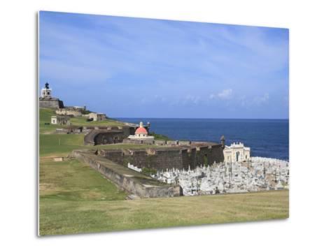 El Morro (Morro Castle), San Felipe, UNESCO World Heritage Site, San Juan, Puerto Rico, USA-Wendy Connett-Metal Print