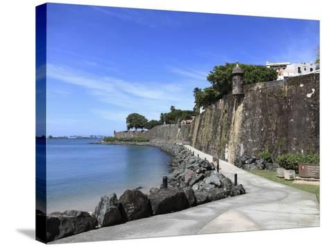 Old City Wall, UNESCO World Heritage Site, Old San Juan, San Juan, Puerto Rico, West Indies, USA-Wendy Connett-Stretched Canvas Print