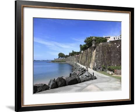 Old City Wall, UNESCO World Heritage Site, Old San Juan, San Juan, Puerto Rico, West Indies, USA-Wendy Connett-Framed Art Print