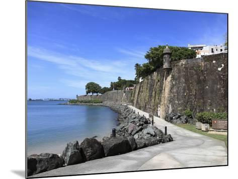 Old City Wall, UNESCO World Heritage Site, Old San Juan, San Juan, Puerto Rico, West Indies, USA-Wendy Connett-Mounted Photographic Print