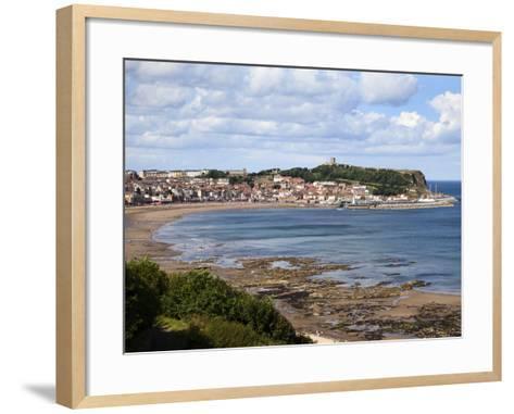 South Bay from South Cliff Gardens, Scarborough, North Yorkshire, Yorkshire, England, UK, Europe-Mark Sunderland-Framed Art Print