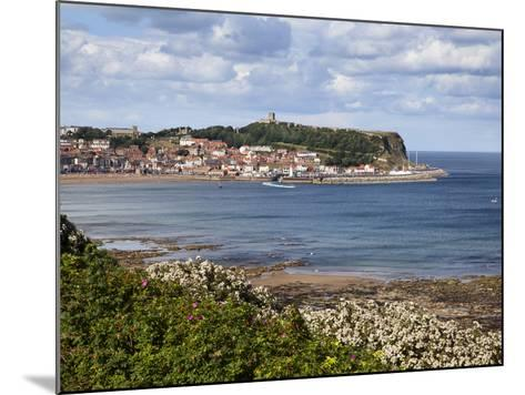 South Bay and Castle Hill from South Cliff Gardens, Scarborough, North Yorkshire, England, UK-Mark Sunderland-Mounted Photographic Print