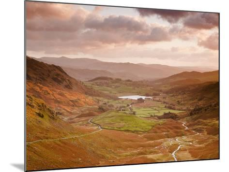 Looking Down Wrynose Pass to Little Langdale in Lake District National Park, Cumbria, England-Julian Elliott-Mounted Photographic Print