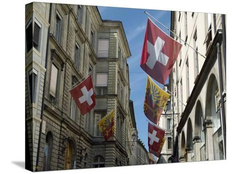 Street Scenes in Geneva Old Town, Geneva, Switzerland, Europe-Matthew Frost-Stretched Canvas Print