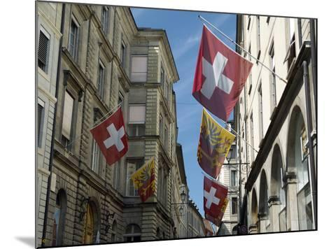 Street Scenes in Geneva Old Town, Geneva, Switzerland, Europe-Matthew Frost-Mounted Photographic Print