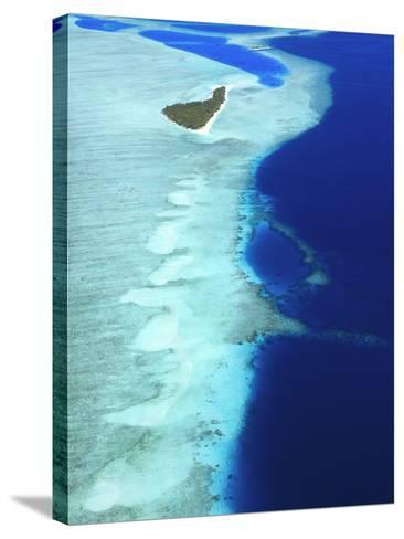 Aerial View, Maldives, Indian Ocean, Asia-Sakis Papadopoulos-Stretched Canvas Print