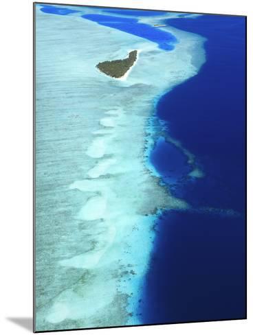 Aerial View, Maldives, Indian Ocean, Asia-Sakis Papadopoulos-Mounted Photographic Print