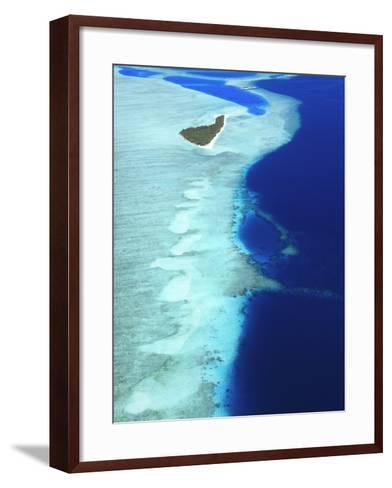 Aerial View, Maldives, Indian Ocean, Asia-Sakis Papadopoulos-Framed Art Print