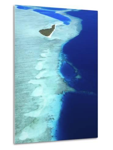 Aerial View, Maldives, Indian Ocean, Asia-Sakis Papadopoulos-Metal Print
