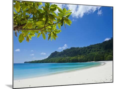 Turquoise Water and White Sand at Champagne Beach, Island of Espiritu Santo, Vanuatu, South Pacific-Michael Runkel-Mounted Photographic Print