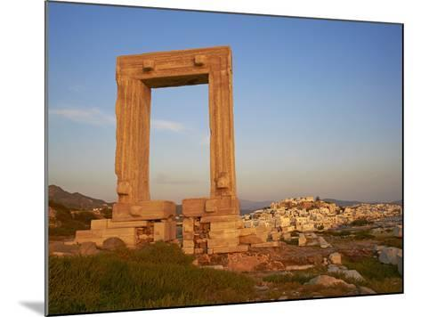 Gateway, Temple of Apollo, Archaeological Site, Naxos, Cyclades, Greek Islands, Greece, Europe-Tuul-Mounted Photographic Print