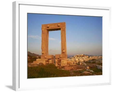 Gateway, Temple of Apollo, Archaeological Site, Naxos, Cyclades, Greek Islands, Greece, Europe-Tuul-Framed Art Print