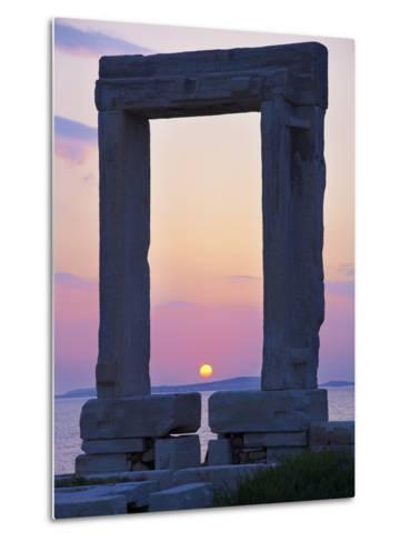 Gateway, Temple of Apollo, Archaeological Site, Naxos, Cyclades, Greek Islands, Greece, Europe-Tuul-Metal Print