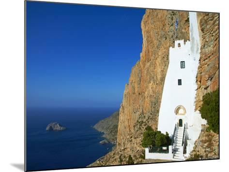 Hozoviotissa Monastery and Aegean Sea, Amorgos, Cyclades, Greek Islands, Greece, Europe-Tuul-Mounted Photographic Print