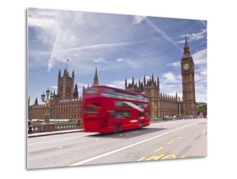 Westminster Bridge and the Houses of Parliament, Westminster, London, England, UK, Europe-Julian Elliott-Metal Print