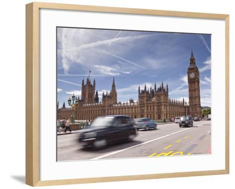 Westminster Bridge and the Houses of Parliament, Westminster, London, England, UK, Europe-Julian Elliott-Framed Art Print