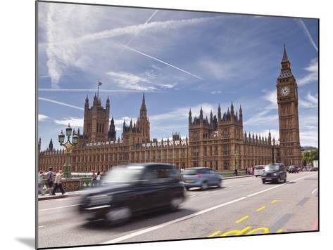 Westminster Bridge and the Houses of Parliament, Westminster, London, England, UK, Europe-Julian Elliott-Mounted Photographic Print