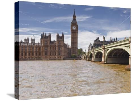 Westminster Bridge and the Houses of Parliament, Westminster, London, England, UK, Europe-Julian Elliott-Stretched Canvas Print