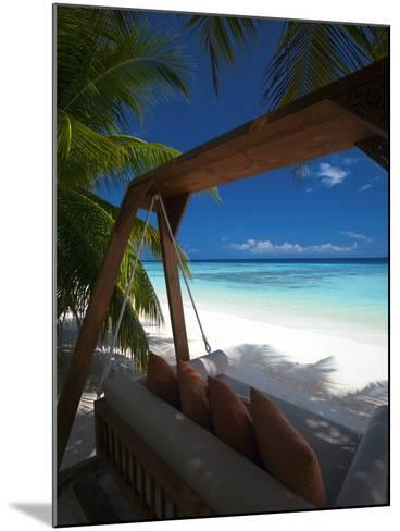 Swing on Tropical Beach, Maldives, Indian Ocean, Asia-Sakis Papadopoulos-Mounted Photographic Print