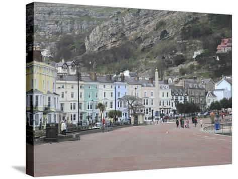 Seaside Promenade, Llandudno, Conwy County, North Wales, Wales, United Kingdom, Europe-Wendy Connett-Stretched Canvas Print