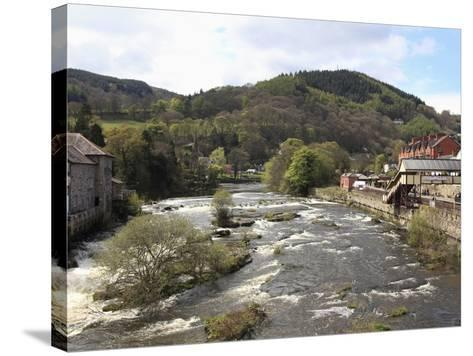 River Dee, Llangollen, Dee Valley, Denbighshire, North Wales, Wales, United Kingdom, Europe-Wendy Connett-Stretched Canvas Print