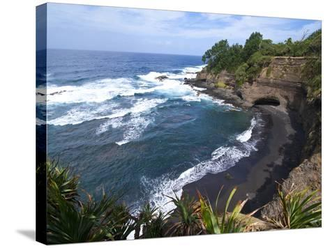 View over Shark Bay Below Volcano Yasur, Island of Tanna, Vanuatu, South Pacific, Pacific-Michael Runkel-Stretched Canvas Print