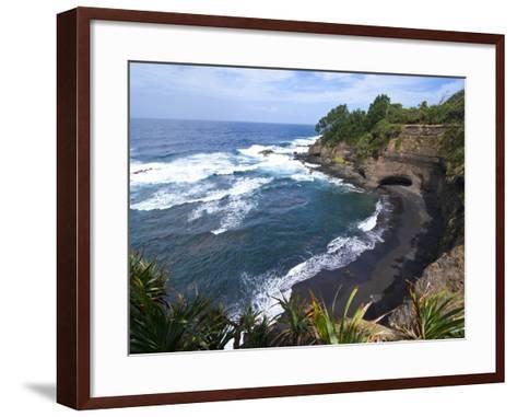 View over Shark Bay Below Volcano Yasur, Island of Tanna, Vanuatu, South Pacific, Pacific-Michael Runkel-Framed Art Print