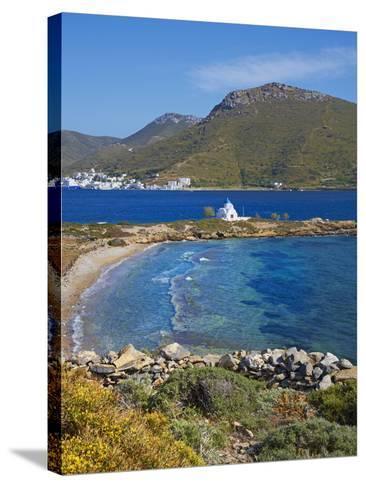 Beach and Church, Agios Panteleimon, Amorgos, Cyclades, Aegean, Greek Islands, Greece, Europe-Tuul-Stretched Canvas Print
