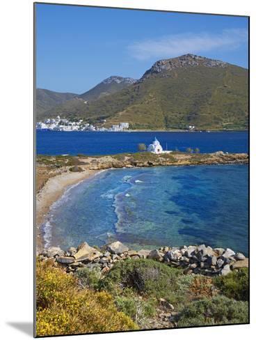 Beach and Church, Agios Panteleimon, Amorgos, Cyclades, Aegean, Greek Islands, Greece, Europe-Tuul-Mounted Photographic Print
