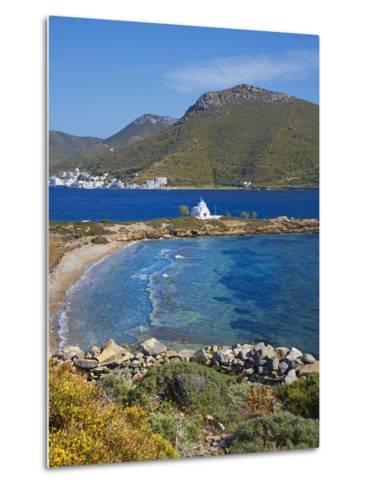 Beach and Church, Agios Panteleimon, Amorgos, Cyclades, Aegean, Greek Islands, Greece, Europe-Tuul-Metal Print