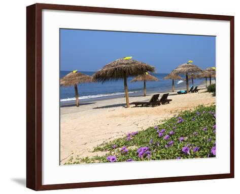 Taj Exotica Hotel Beach, Benaulim, Goa, India, Asia-Stuart Black-Framed Art Print