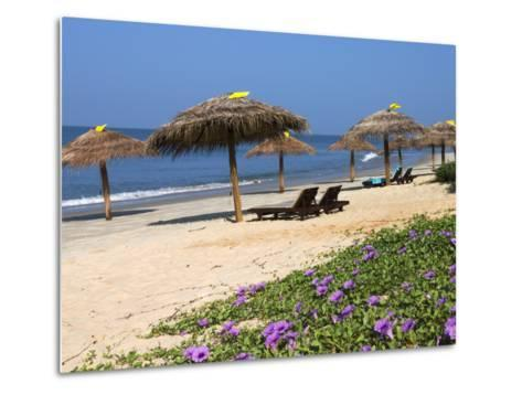 Taj Exotica Hotel Beach, Benaulim, Goa, India, Asia-Stuart Black-Metal Print