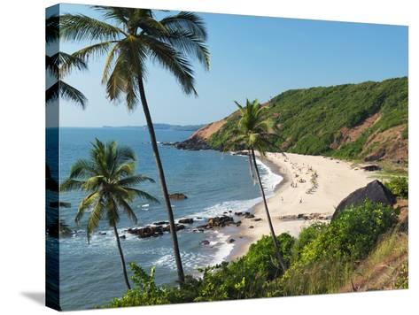 Paliem (Lakeside Beach), Arambol (Harmal), Goa, India, Asia-Stuart Black-Stretched Canvas Print