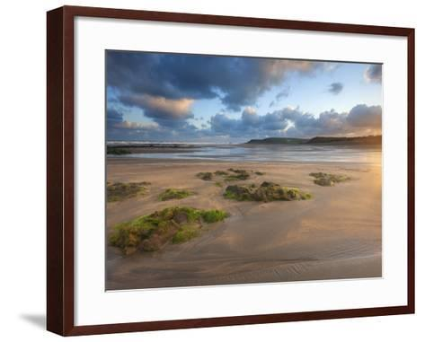 Early Morning, Widemouth Bay, Cornwall, England, United Kingdom, Europe-Chris Hepburn-Framed Art Print