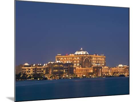 Emirates Palace Hotel, Abu Dhabi, United Arab Emirates, Middle East-Angelo Cavalli-Mounted Photographic Print