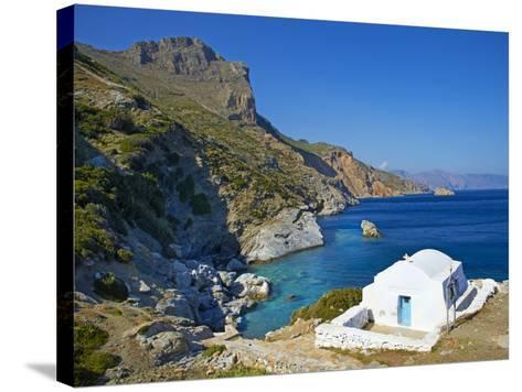 Beach and Church, Agia Anna, Amorgos, Cyclades, Aegean, Greek Islands, Greece, Europe-Tuul-Stretched Canvas Print