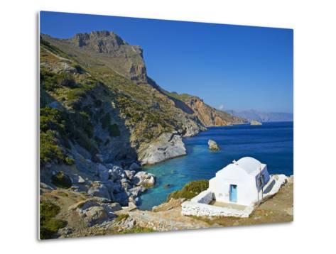 Beach and Church, Agia Anna, Amorgos, Cyclades, Aegean, Greek Islands, Greece, Europe-Tuul-Metal Print