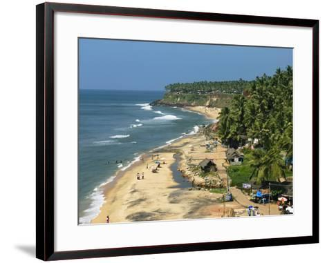 Papanasam Beach, Varkala, Kerala, India, Asia-Stuart Black-Framed Art Print