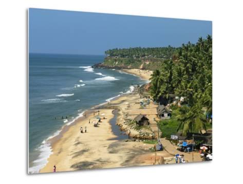 Papanasam Beach, Varkala, Kerala, India, Asia-Stuart Black-Metal Print