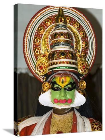 Kathakali Dancer, Kochi (Cochin), Kerala, India, Asia-Stuart Black-Stretched Canvas Print