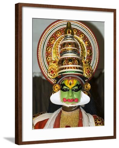 Kathakali Dancer, Kochi (Cochin), Kerala, India, Asia-Stuart Black-Framed Art Print