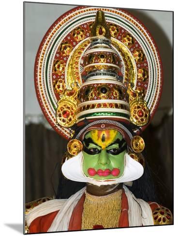 Kathakali Dancer, Kochi (Cochin), Kerala, India, Asia-Stuart Black-Mounted Photographic Print