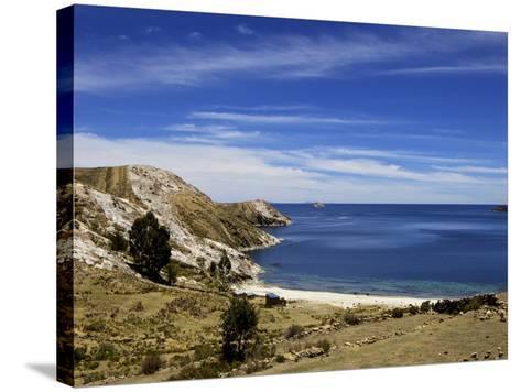 Bay on Isla del Sol, Lake Titicaca, Bolivia, South America-Simon Montgomery-Stretched Canvas Print