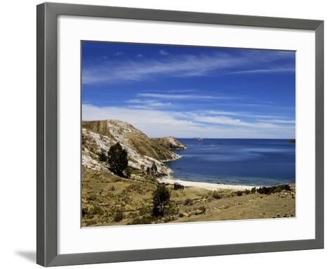 Bay on Isla del Sol, Lake Titicaca, Bolivia, South America-Simon Montgomery-Framed Art Print