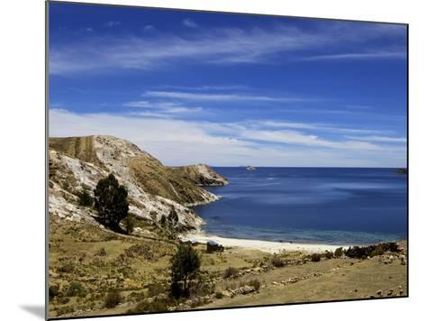 Bay on Isla del Sol, Lake Titicaca, Bolivia, South America-Simon Montgomery-Mounted Photographic Print