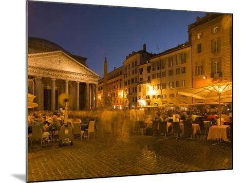 People Dining at Outside Restaurant Near the Pantheon, Rome, Lazio, Italy, Europe-Angelo Cavalli-Mounted Photographic Print